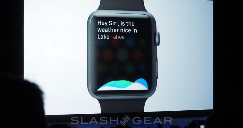 Siri speaks on Apple Watch