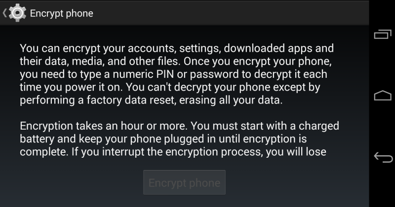 Google to implement encryption by default in Android L