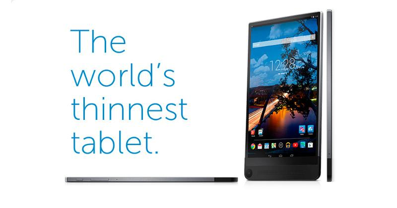 Dell teases Venue 8 7000, thinnest Android tablet