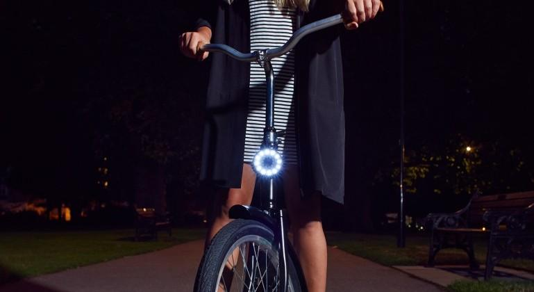 Double O magnetic LED bike lights make cycling safer
