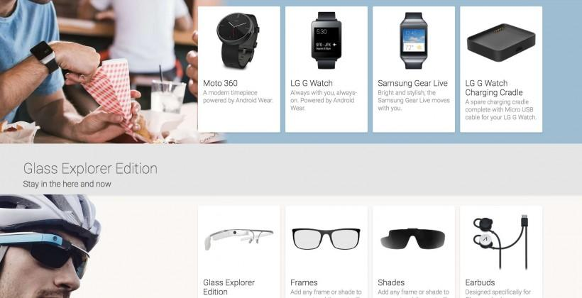 Moto 360 and Google Glass appear on Google Play store