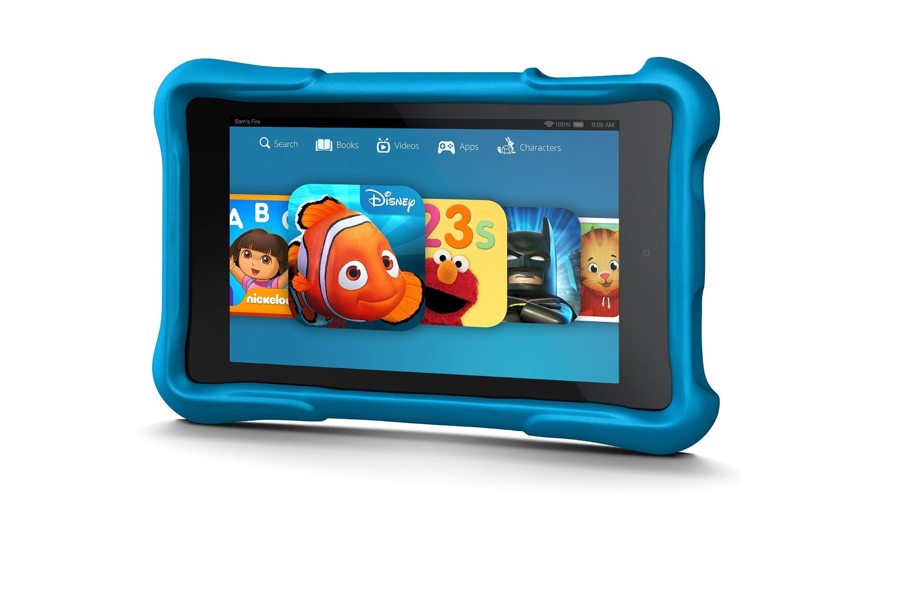 Amazon's Fire HD Kids Edition: rubber bumpers, free
