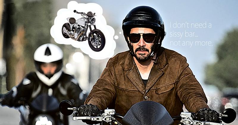 Keanu Reeves Motorcycle: ARCH and the sissy bar