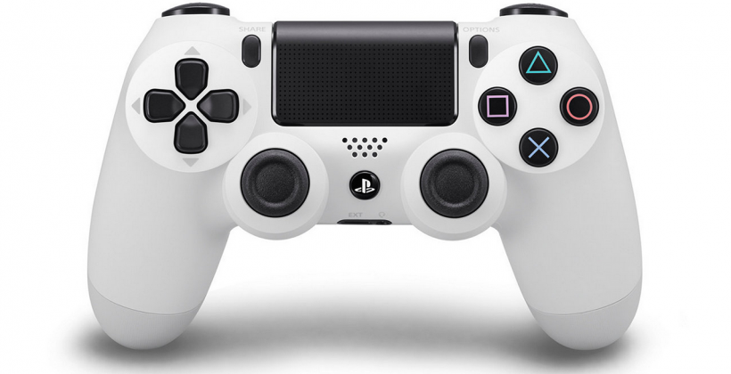 White PlayStation 4 (DS4) controllers USA release tomorrow