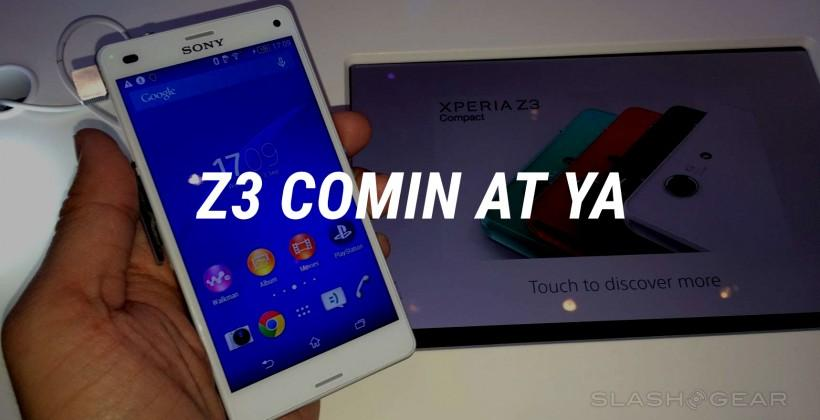 Xperia Z3 and Compact released in UK, coming to USA soon