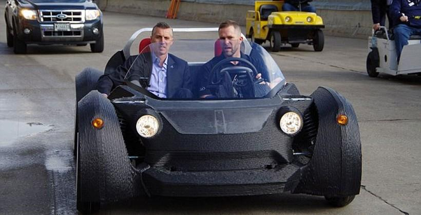 3D printed car takes 2-days to build, 40mph top speed