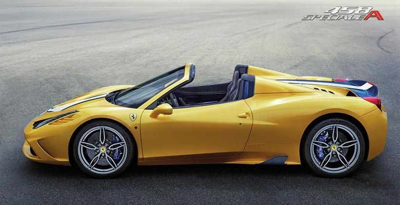Ferrari 458 Speciale A drop top hits 100 km/h in 3 sec