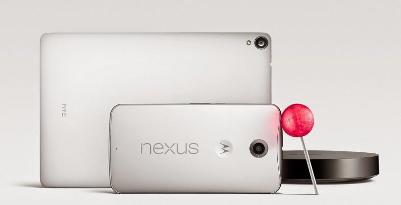 Android Lollipop, Nexus 6, 9, and Player all arrive!