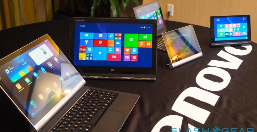 ThinkPad Yoga 14, YOGA Tablet 2 in Windows and Android revealed in detail