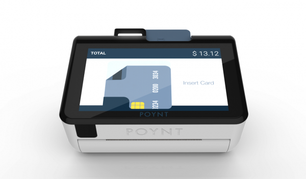 Poynt - Customer screen head on