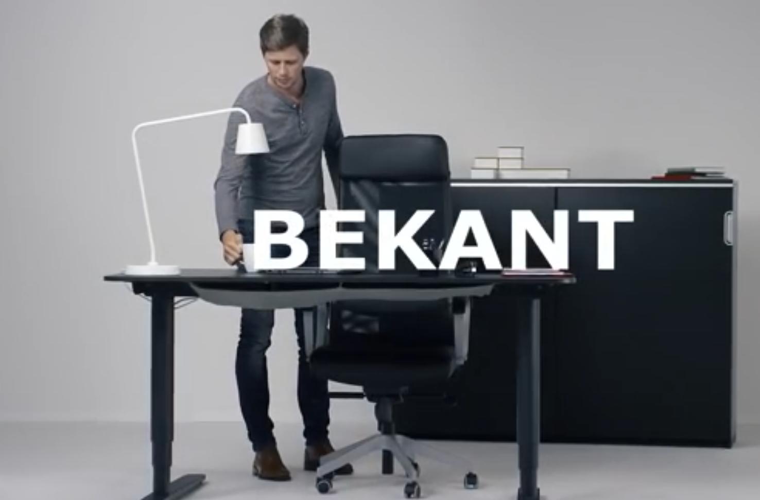 Ikea Bekant Has Standing Desk