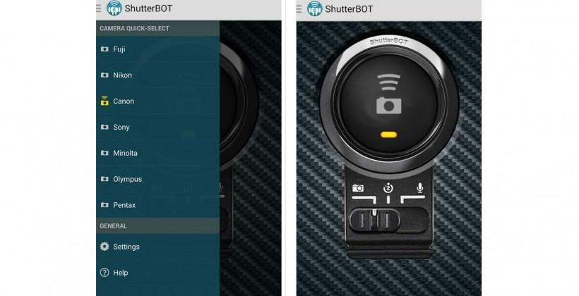 ShutterBOT transforms Android devices into a DSLR remote