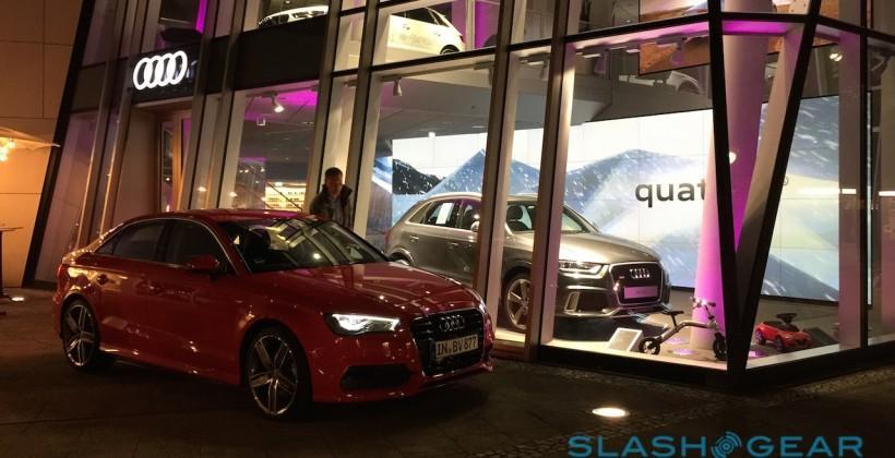 I drove Audi's car that talks to traffic lights