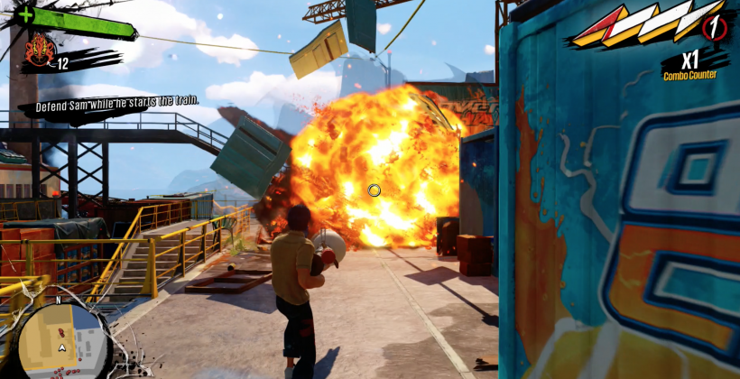 Sunset Overdrive launch done with real, actual explosions