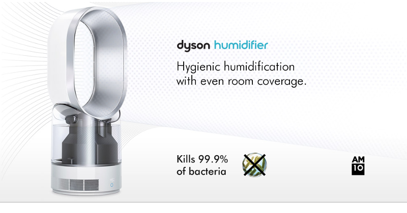 Dyson Humidifier employs UV light to keep air germ-free