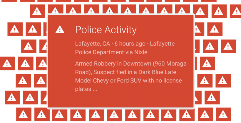 Police Alerts NOT new on Google Now