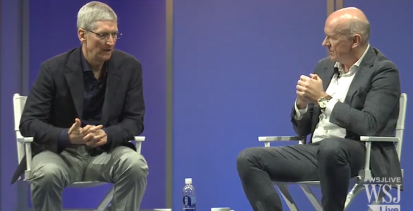 Tim Cook WSJ interview videos: Apple Pay, Alibaba