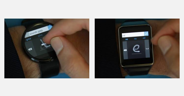Microsoft Research has an analog Android Wear keyboard