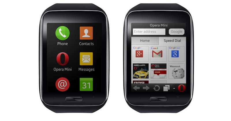 Opera Mini now on smartwatches via Samsung Gear S