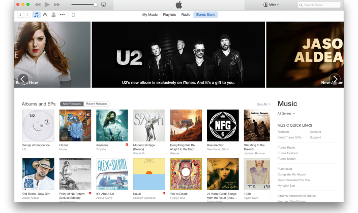 New iTunes rolling out, looks just like OS X Yosemite