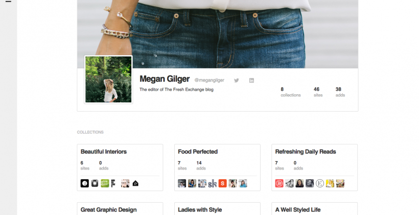 Feedly gets social with collection sharing & public profiles