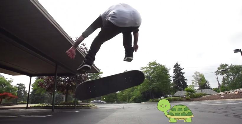 Watch: Slow-motion skateboard trick videos by Adam Shomsky
