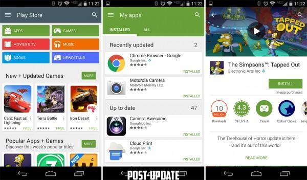 Google Play Store update: APK flat as Android L - SlashGear