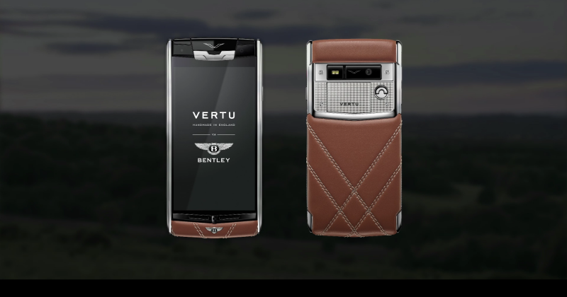 Vertu for Bentley: a luxury phone that feels like a luxury car