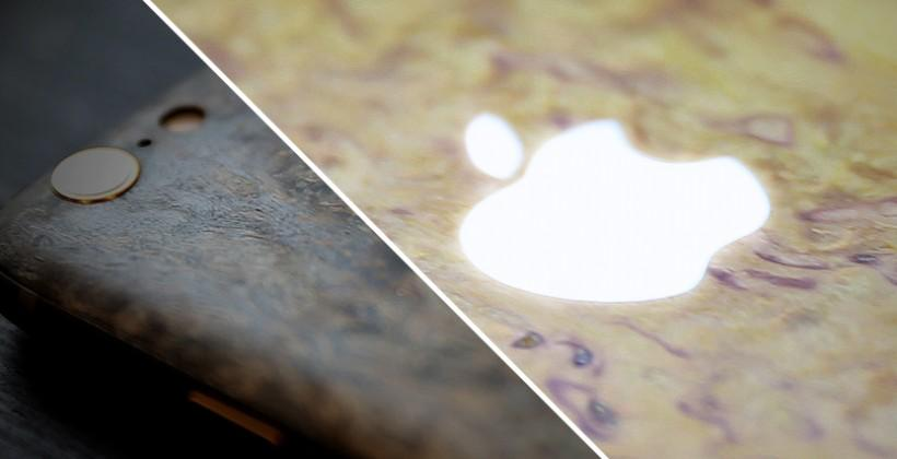iPhone 6 released with wood, light-up Apple by Feld & Volk