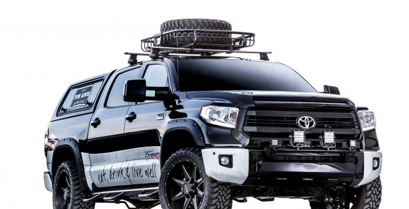 "Toyota Tundra ""Tim Love Edition"" sports grill, PS4, and 3 TVs"
