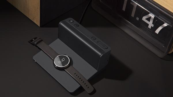 Ohm Bluetooth Speaker doubles as wireless charger