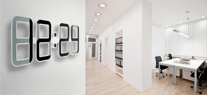 Twelve24 ClockONE: a giant e-ink clock powered by a tiny battery