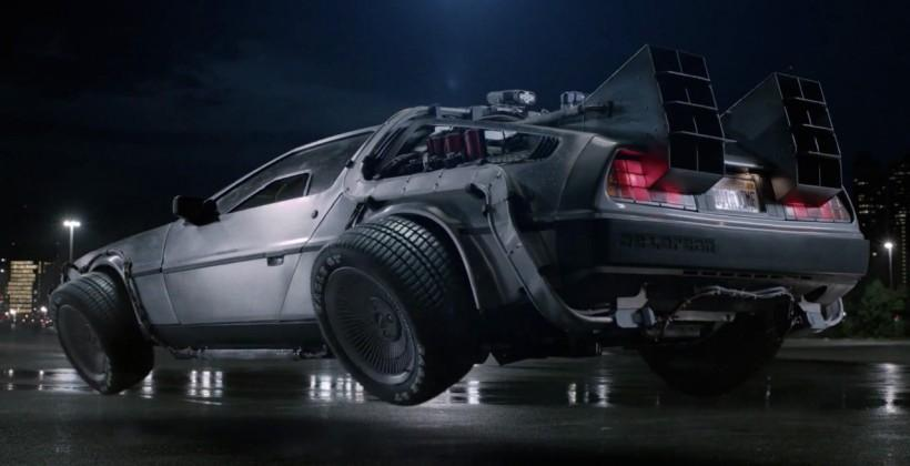 Back to the Future DeLorean replica is a flying drone