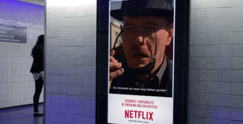 Netflix puts up clever GIF posters that mirror the weather