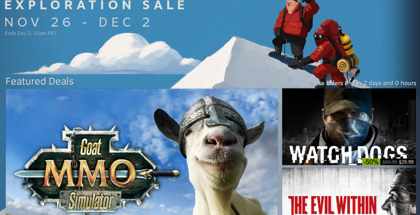 """Steam Sale hits """"Exploration"""" theme for holidays"""
