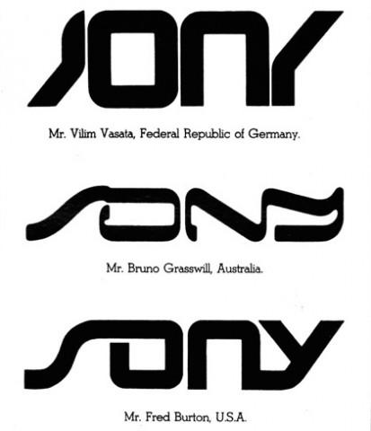 Sony's rejected, crowdsourced logo redesigns from 1981