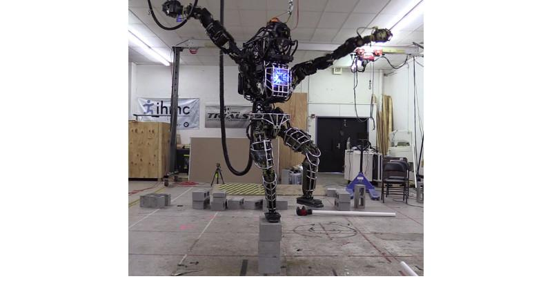 "Atlas robot tries to do the Karate Kid ""Crane"" stance"