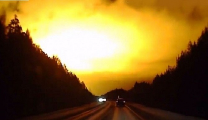 Russian dashcams catch another explosion in the sky
