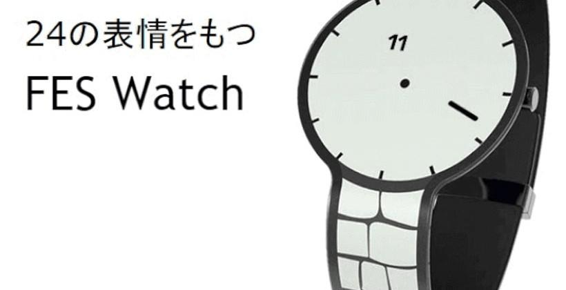 FES e-ink watch changes styles and colors with a button press