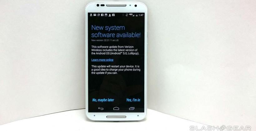 Verizon's Moto X Android Lollipop release Benchmarked