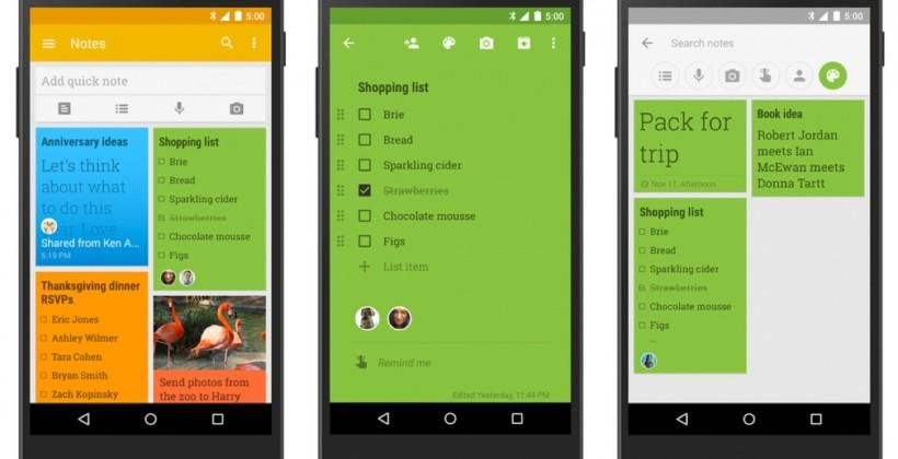 Google Keep update brings new look, real-time edits