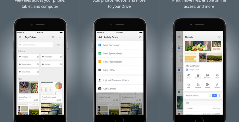 Google Drive for iOS brings TouchID, file access in any app