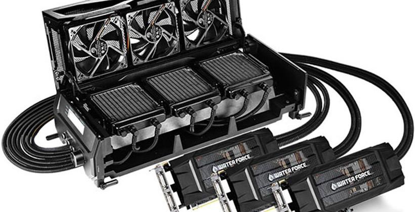 Gigabyte GeForce GTX 980 WaterForce Tri-SLI graphics kit makes geeks weep