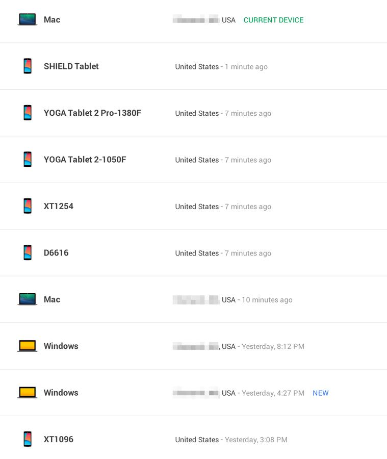 Google lists all of your devices, location included - SlashGear