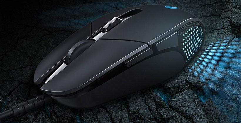 Logitech G302 MOBA gaming mouse features metal button springs