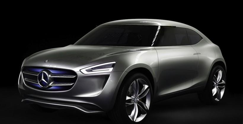Solar paint and Warp Drive grille: Mercedes' baby crossover concept gets odd
