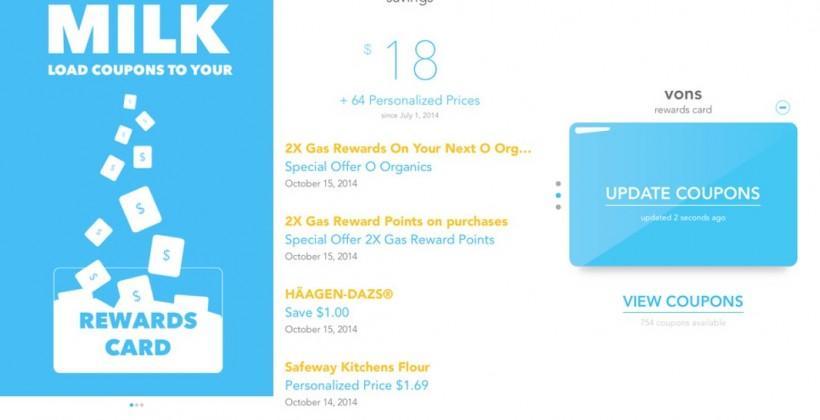 Milk app saves you cash on groceries almost effortlessly