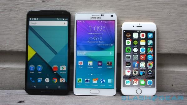 Nexus 6 vs Note 4 vs iPhone 6