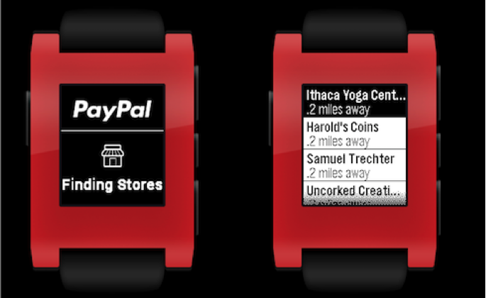 Pebble smartwatch scores PayPal app