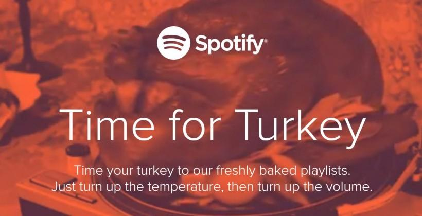 Spotify preps playlists for Thanksgiving festivities